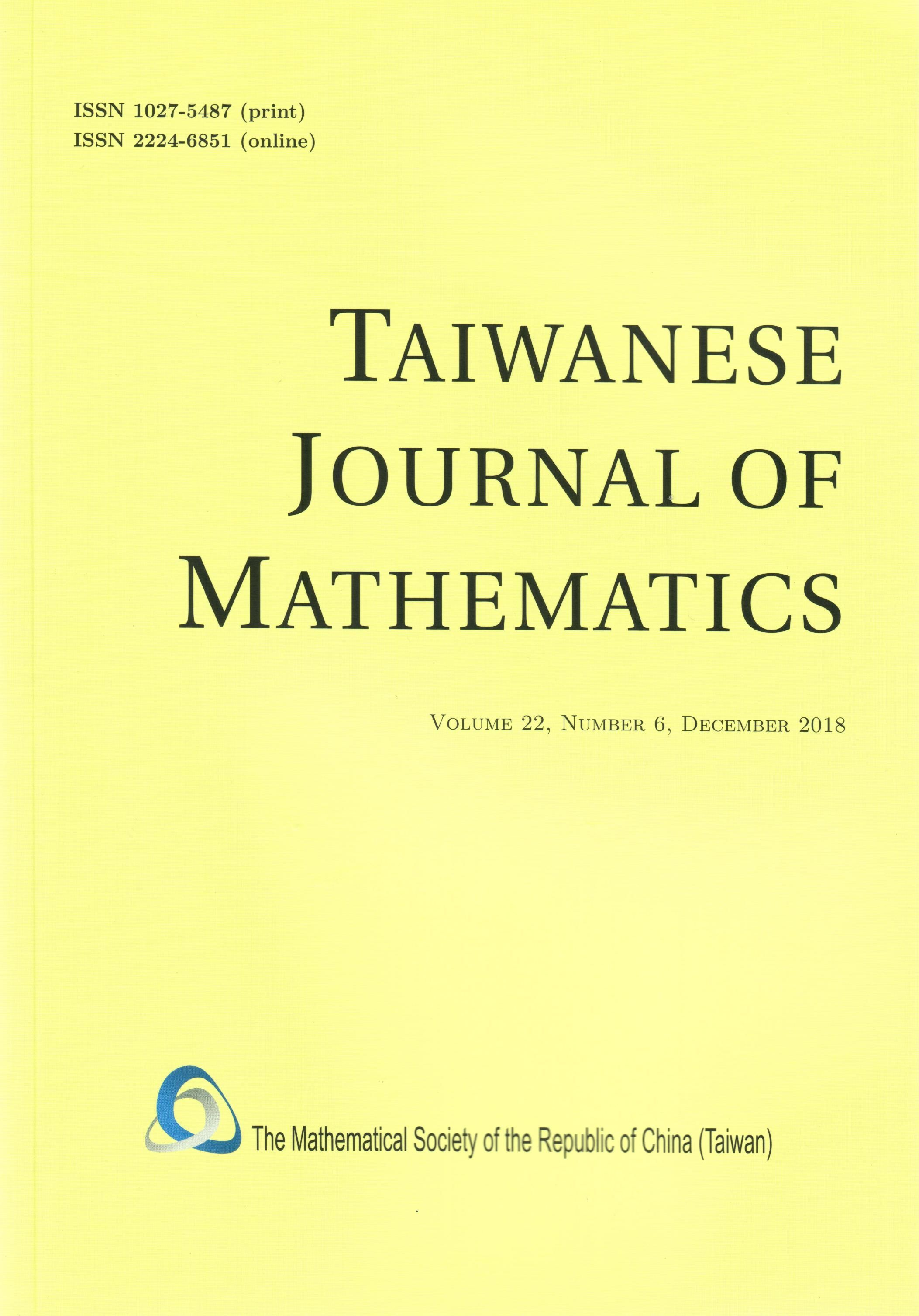 Taiwanese Journal of Mathematics